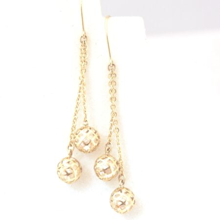 10K Solid Gold Drop / Dangle Earrings