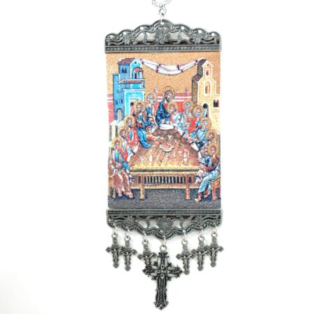 12 Apostles, Hanging Cross Tapestry Banner
