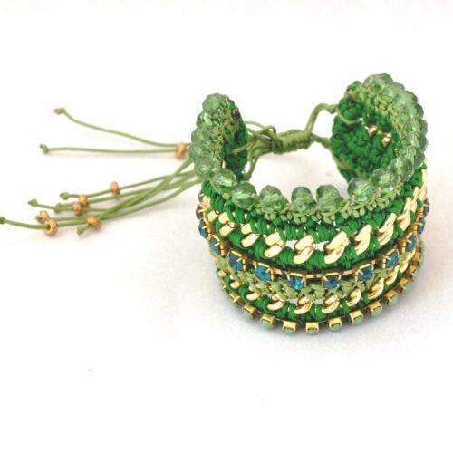 18K Gold Plated, Crystal Handmade Bracelet
