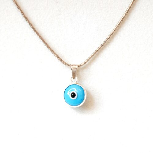 925 Sterling Silver Baby Blue Lapis Pendant