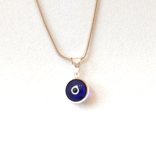 925 Sterling Silver Dark Blue Lapis Pendant