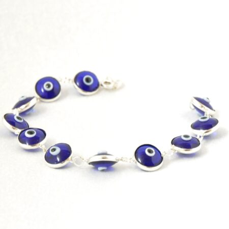 925 Sterling Silver Glass Lapis Bracelet