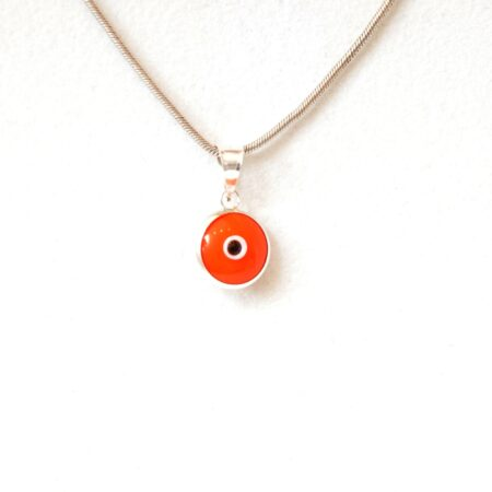 925 Sterling Silver Orange Lapis Pendant