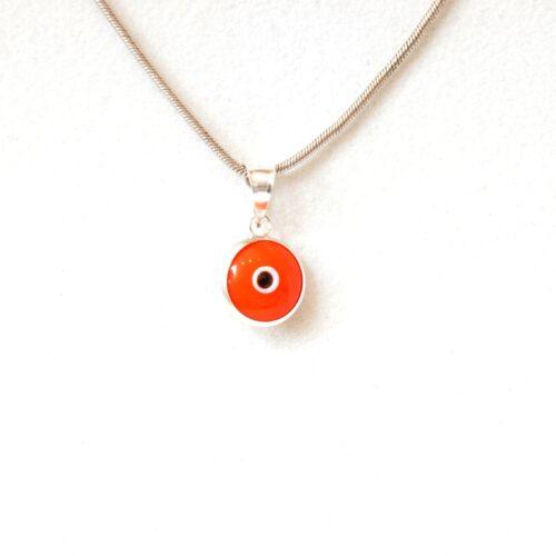 925 Sterling Silver Orange Lapis Pendant