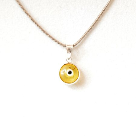 925 Sterling Silver Transparent Yellow Pendant