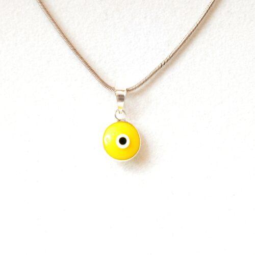 925 Sterling Silver Yellow Lapis Pendant