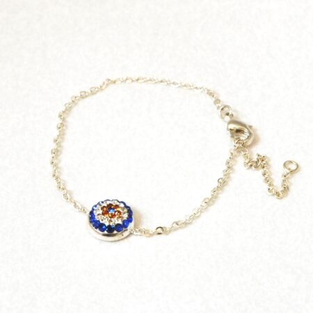 Evil Eye Crystal Ball  Fashion Bracelet