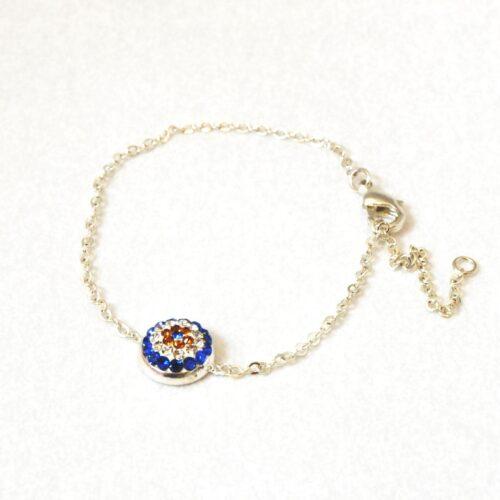 Evil Eye Crystal Ball  Fashion Bracelet