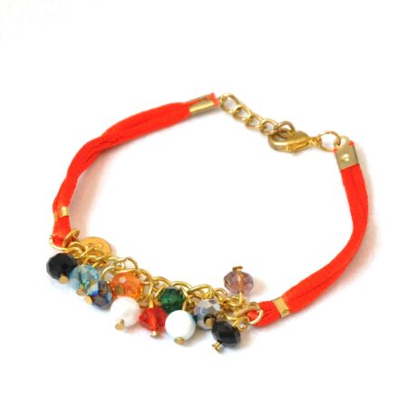 Evil Eye Crystal Fashion, Red Ribbon Bracelet