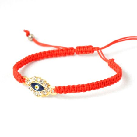 Evil Eye Crystal, Macrame Fashion Bracelet
