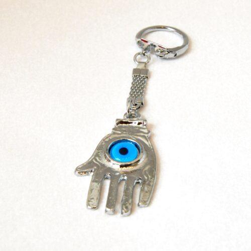 Evil Eye, Fatima/Hamsa Hand Keychain