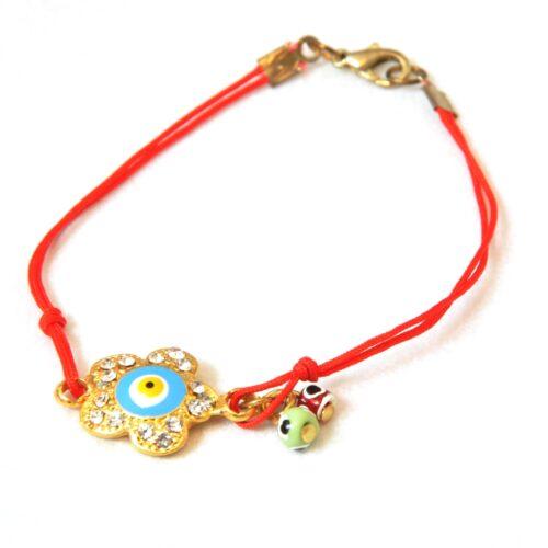 Evil Eye Flower Shaped, Kabbalah Fashion Bracelet