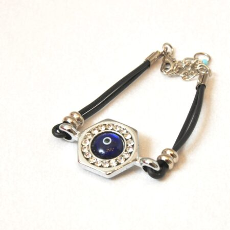 Evil Eye , Hexagon Shaped, Fashion Bracelet