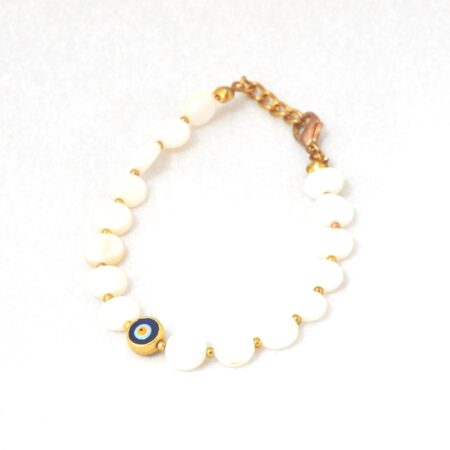 Evil Eye, Mother of Pearl Bracelet