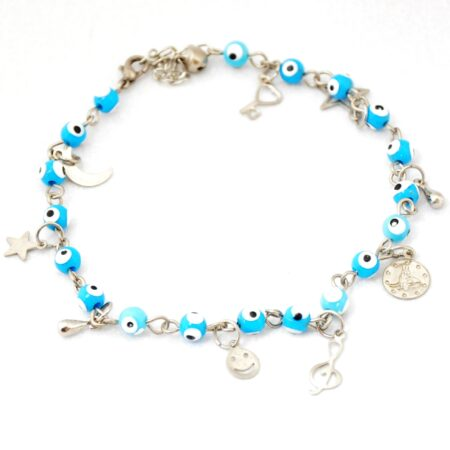 Evil Eye, Multicharm, Blue Anklet