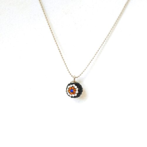 Evil Eye, Shamballa, Crystal Fashion Necklace