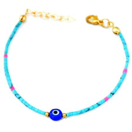Gemstone, Evil Eye, Blue Bracelet