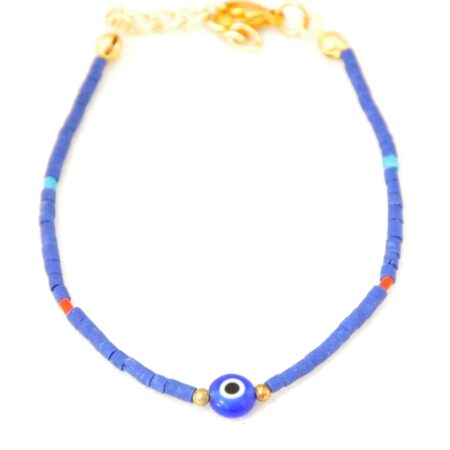 Gemstone, Evil Eye, Navy Bracelet