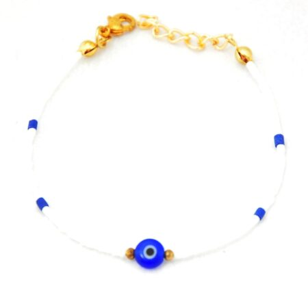 Gemstone, Evil Eye, White Bracelet