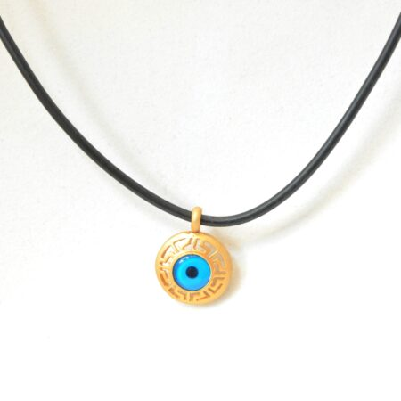 Greek Style Round Shaped Evil Eye Fashion Necklace