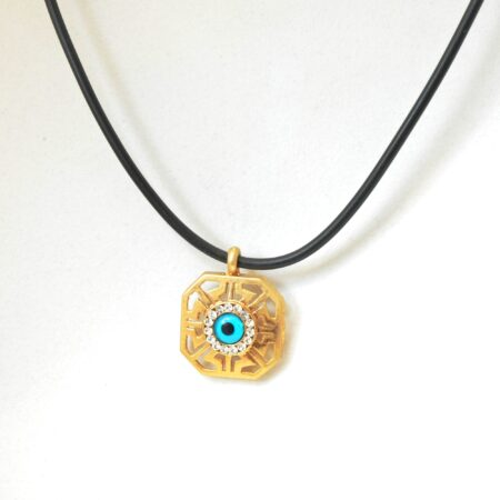 Greek Style Square  Shaped Evil Eye Fashion Necklace
