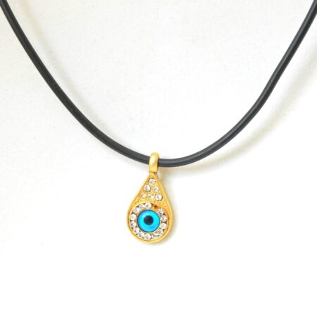 Greek Style Teardrop Shaped Evil Eye Fashion Necklace