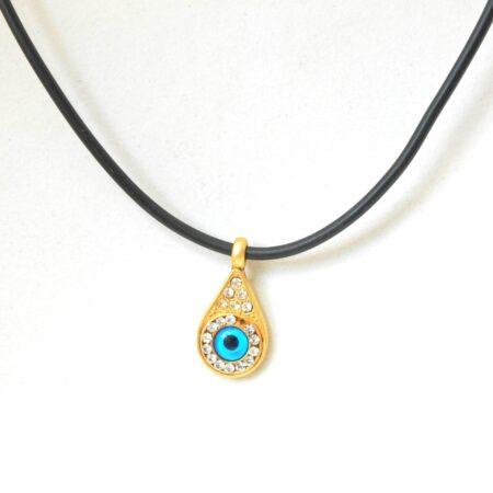 Greek Style Teardrop Shaped Evil Eye Fashion Necklace