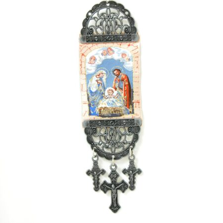 Holy Family  , Hanging Cross Tapestry Banner