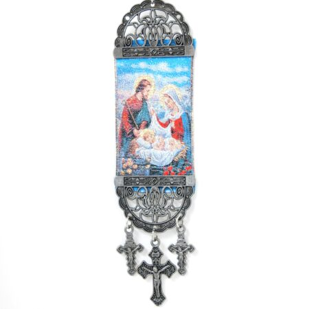 Holy Family  , Hanging Cross Tapestry Banner