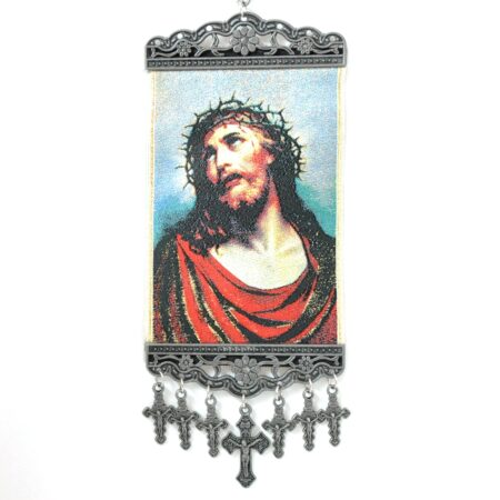 Jesus, Hanging Cross Tapestry Banner