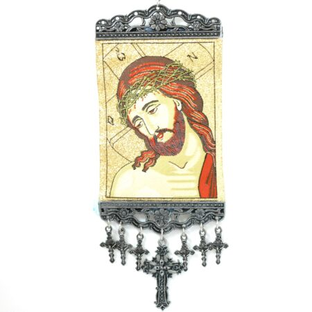 Jesus, Hanging Cross Tapestry Banner