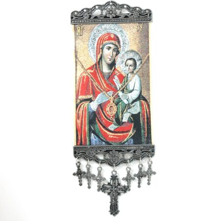 Madonna Baby Jesus, Hanging Cross Tapestry Banner