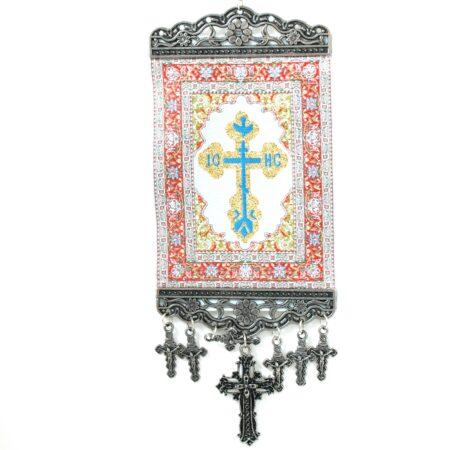 Orthodox, Hanging Cross Tapestry Banner