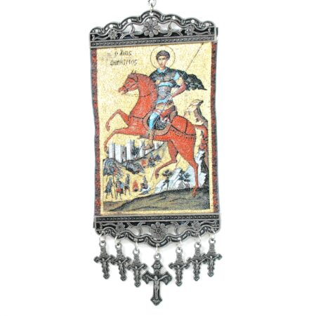 Saint Archangel, Hanging Cross Tapestry Banner