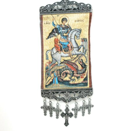 Saint George, Hanging Cross Tapestry Banner